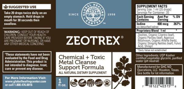 zeotrex label